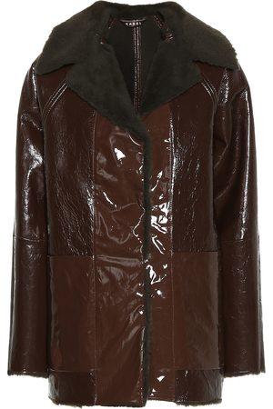 Kassl Editions Vinyl and shearling coat
