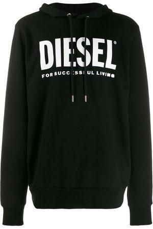 Diesel Mężczyzna Bluzy z kapturem - Black