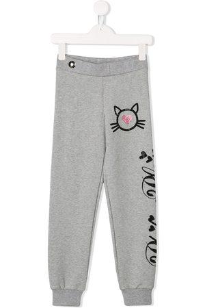 Philipp Plein Dziewczynka Spodnie - Grey
