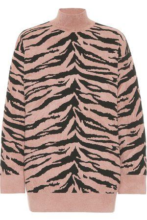 Alaïa Zebra Jacquard Turtleneck Sweater Nylon 4MBHr