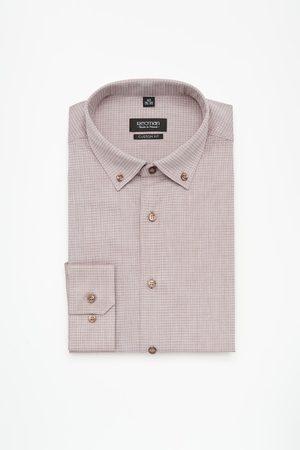 Recman Mężczyzna Z długim rękawem - Koszula versone 2427 długi rękaw custom fit brąz