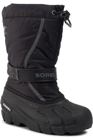 sorel Śniegowce - Youth Flurry NY1965 Black/City Grey 016