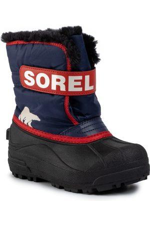 sorel Chłopiec Kozaki - Śniegowce - Childrens Snow Commander NC1960 Noctural/Sail Red 591