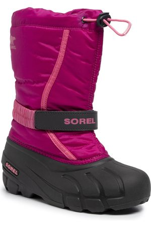 sorel Śniegowce - Youth Flurry NY1965 Deep Blush/Tropic Pink 684