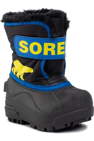 sorel Śniegowce - Toddler Snow Commander NV1960 Black/Super Blue 011