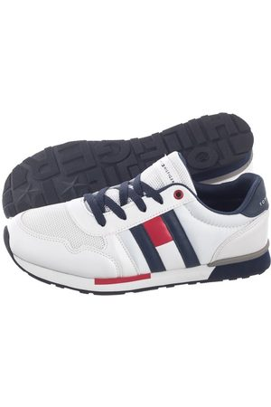 Tommy Hilfiger Buty Low Cut Lace-Up Sneaker T3B4-30483-0733 X336 White/Blue (TH58-a)