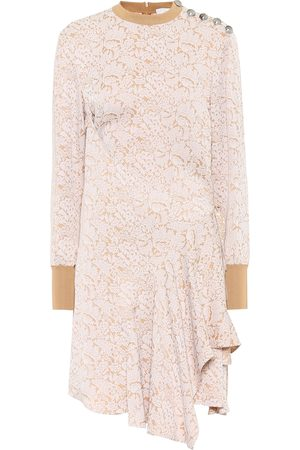 Chloé Asymmetric jacquard dress