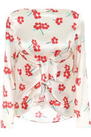 Bernadette Judy floral stretch-silk blouse