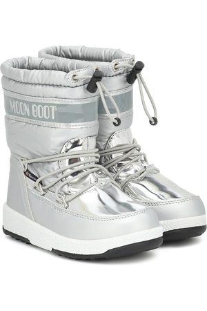 Moon Boot Kids Metallic nylon snow boots