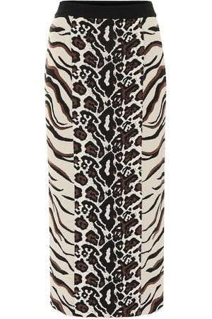 Stella McCartney Exclusive to Mytheresa – Animal-jacquard midi skirt