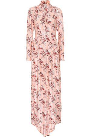 Paco rabanne Printed satin maxi dress