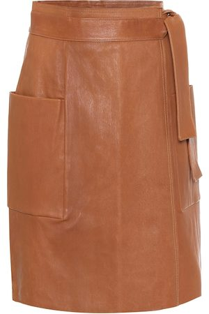 Stouls Leather wrap skirt