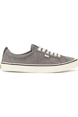 CARIUMA OCA Low Stripe Charcoal Suede Sneaker