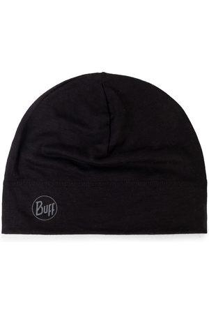 Buff Mężczyzna Czapki - Czapka - Lightweight Mering Wool Hat 113013.999.10.00 Solid Black