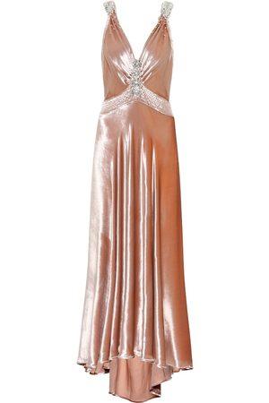 Paco rabanne Kobieta Sukienki - Embellished velvet dress
