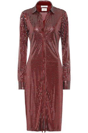 Bottega Veneta Kobieta Sukienki midi - Embellished satin-jersey midi dress