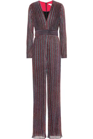 JONATHAN SIMKHAI Metallic striped jumpsuit