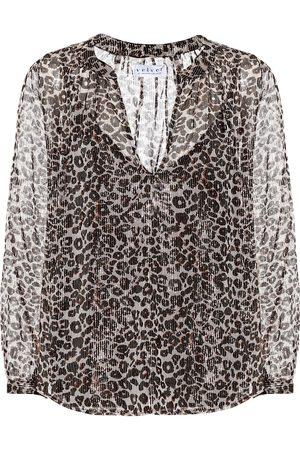Velvet Leopard-print blouse