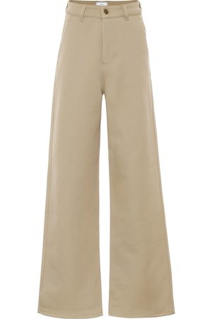 Ami High-rise wide-leg drill pants
