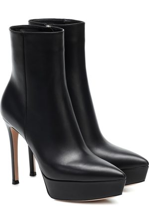 Gianvito Rossi Dasha leather platform ankle boots