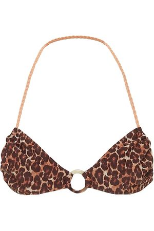 Tropic of C Lira leopard-print bikini top