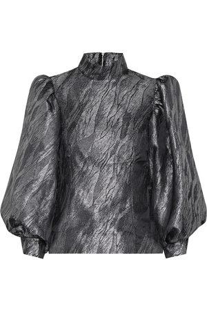 Ganni Jacquard blouse