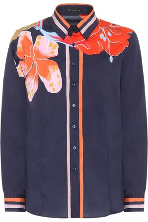Etro Floral stretch-silk blouse