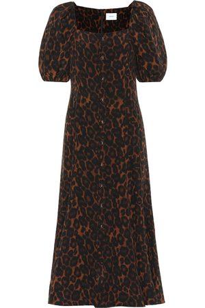 Erdem Mariona leopard-print silk dress