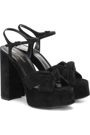Saint Laurent Bianca 125 suede platform sandals