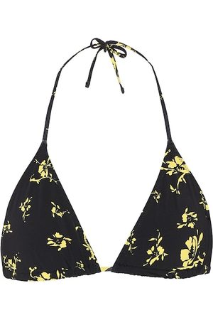 Ganni Floral bikini top