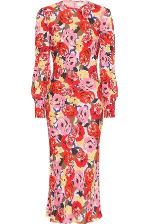 Rebecca Vallance Blume crêpe midi dress