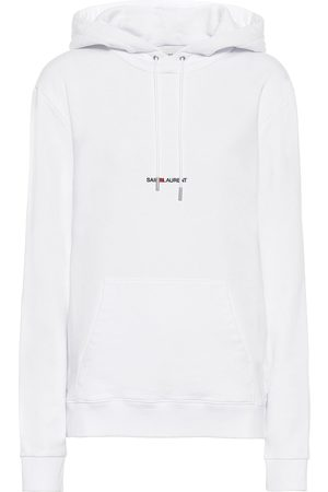 Saint Laurent Logo cotton-jersey hoodie