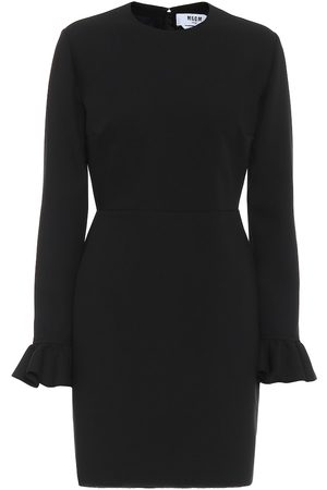 Msgm Ruffled stretch-cady minidress