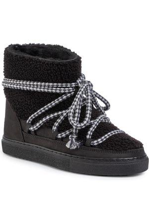 INUIKII Kobieta Kozaki - Buty - Sneaker Curly 70202-16 Black-Blk Cot. Laces