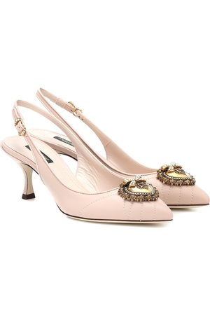 Dolce & Gabbana Nicole slingback leather pumps