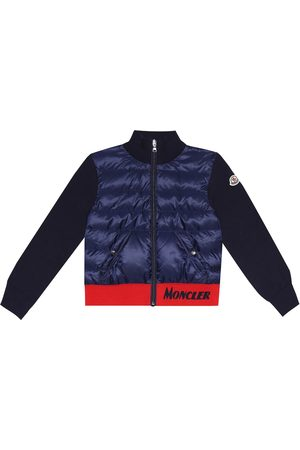 Moncler Cotton and down-filled jacket