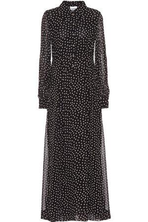 Ganni Printed georgette maxi dress