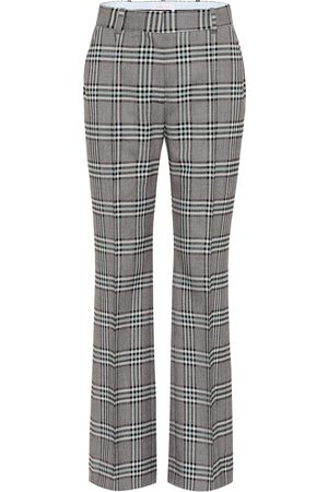 Chloé Checked high-rise wide-leg pants