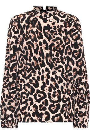 Baum und Pferdgarten Mei leopard-print top