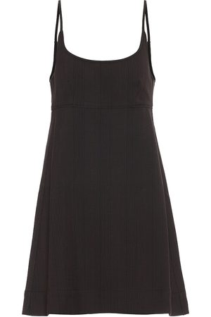 Ganni Checked jersey dress