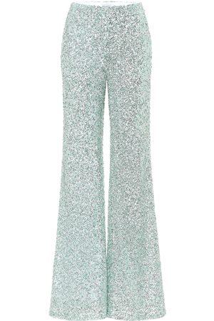 HALPERN Kobieta Spodnie z szeroką nogawką - Sequined wide-leg pants