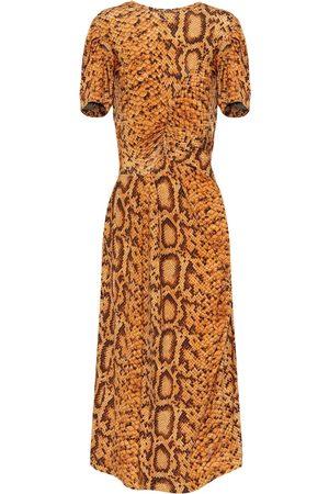 THORNTON BREGAZZI Kobieta Sukienki z nadrukiem - Daliz snake-print dress
