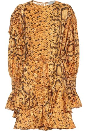THORNTON BREGAZZI Lupita snake-print dress