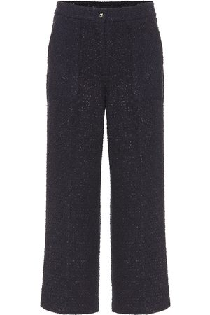 Etro Cropped cotton-blend tweed pants