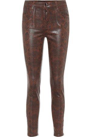 J Brand Alana coated skinny jeans