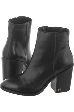 Tommy Hilfiger Botki Mono Color Heeled Boot FW0FW04279 990 Black (TH77-a)