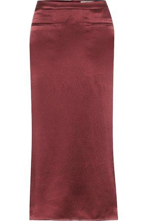 REJINA PYO Mina silk-satin midi skirt