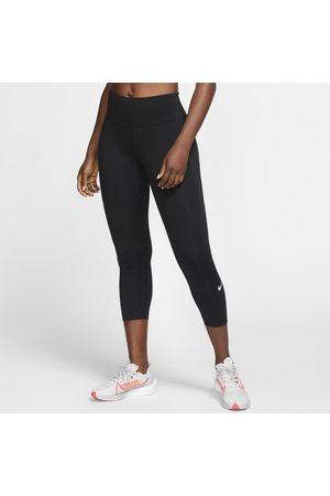 Nike Damskie legginsy 3/4 do biegania ze średnim stanem i kieszenią Epic Luxe - Czerń