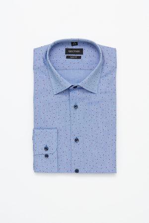 Recman Koszula xmas 5016a długi rękaw slim fit