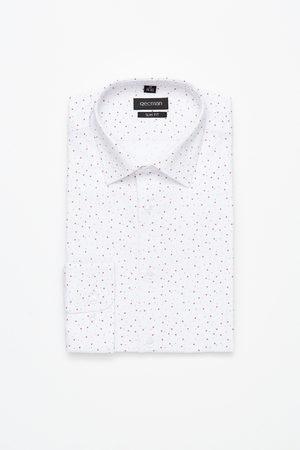 Recman Mężczyzna Na co dzień - Koszula xmas 5015a długi rękaw slim fit